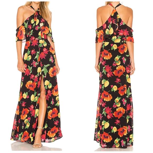 Adjustable Halter tie dress with slit on front.